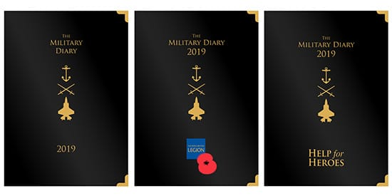 Help for Heroes 2019 Diary - Royal British Legion Desk Diary 2019