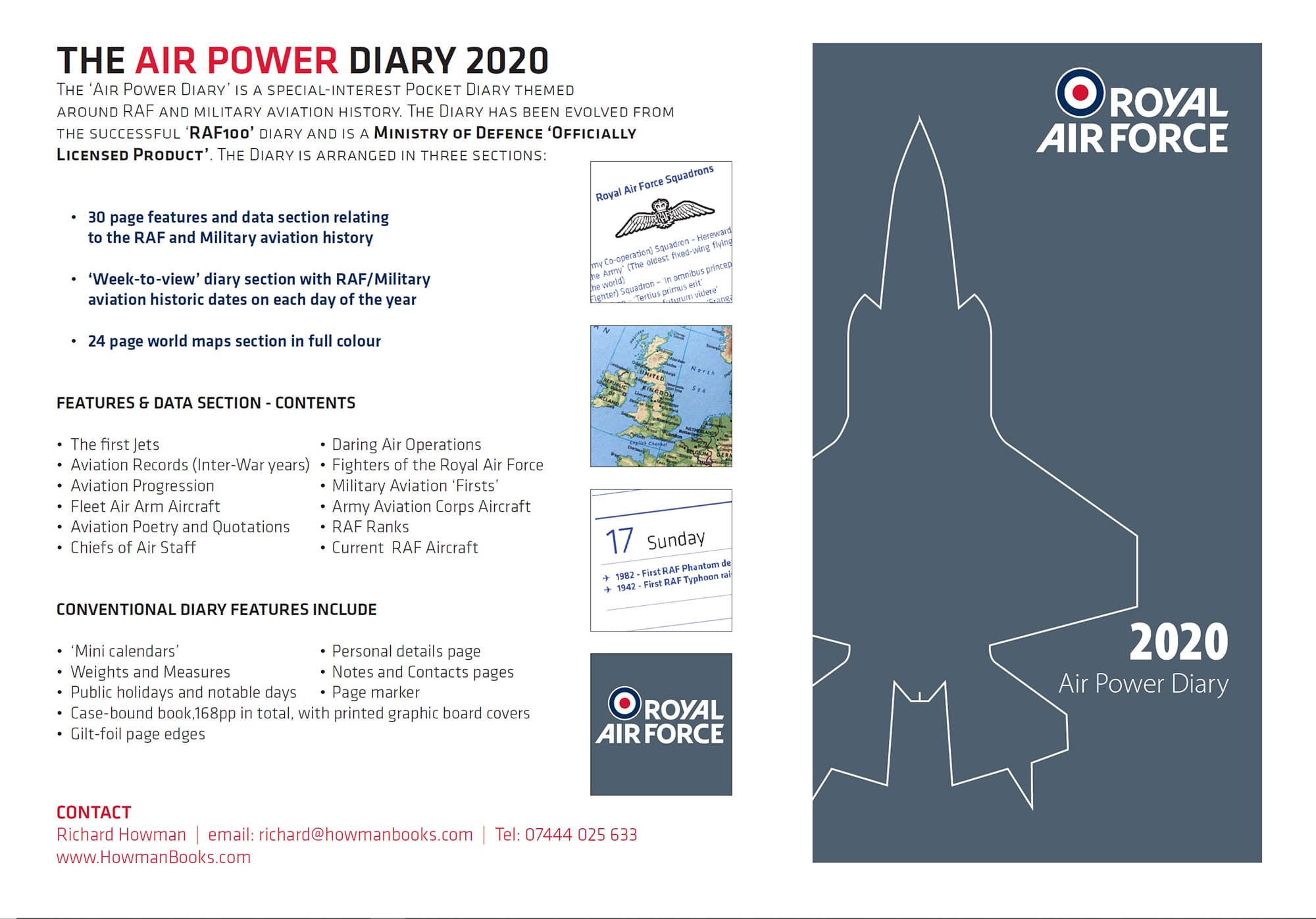 Royal Air Force RAF 2020 Diary